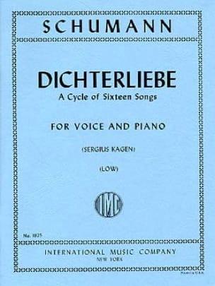 Dichterliebe Opus 48 Voix Grave - SCHUMANN - laflutedepan.com
