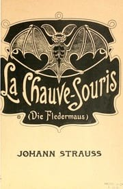 La Chauve Souris Johann fils Strauss Partition Opéras - laflutedepan