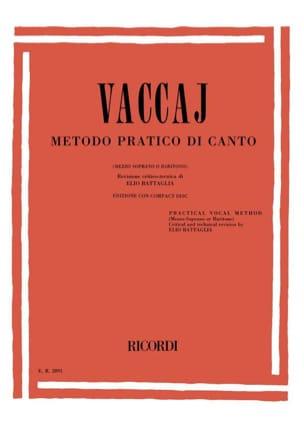 Metodo Pratico. Voix Moyenne Nicola Vaccai Partition laflutedepan
