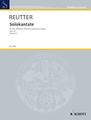 Solokantate Opus 45 Hermann Reutter Partition Alto - laflutedepan