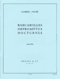 Barcarolles, Impromptus et Nocturnes FAURÉ Partition laflutedepan