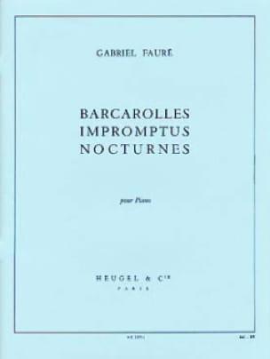 Barcarolles, Impromptus et Nocturnes - FAURÉ - laflutedepan.com