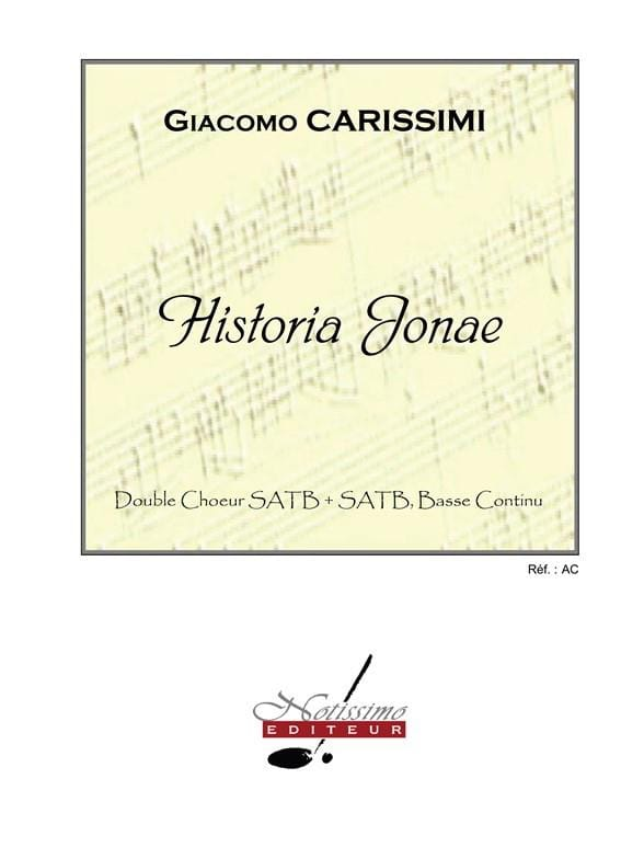 Historia Jonae - Giacomo Carissimi - Partition - laflutedepan.com