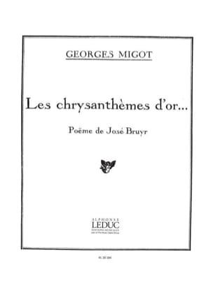 Chrysanthemes D'Or - Georges Migot - Partition - laflutedepan.com