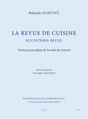 La Revue de Cuisine MARTINU Partition Piano - laflutedepan
