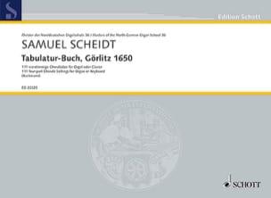 Tabulatur-Buch, Görlitz 1650 Samuel Scheidt Partition laflutedepan