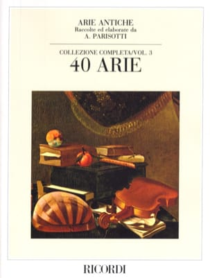 Arie Antiche Volume 3 Alessandro Parisotti Partition laflutedepan