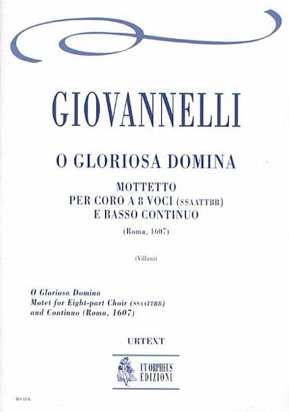 O Gloriosa Domina - Ruggero Giovannelli - Partition - laflutedepan.com
