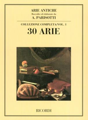 Arie Antiche Volume 1 Alessandro Parisotti Partition laflutedepan