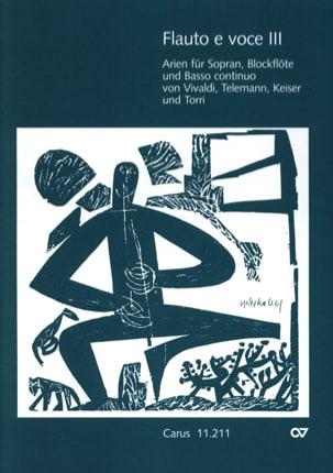 Flauto E Voce. Volume 3 Partition Flûte à bec - laflutedepan