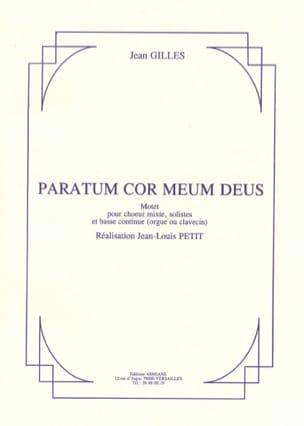 Paratum Cor Meum Deus Jean Gilles Partition Chœur - laflutedepan