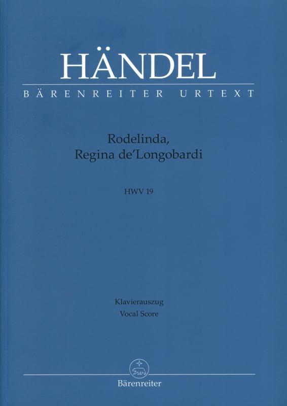 Rodelinda, Regina De' Longobardi. HWV 19 - HAENDEL - laflutedepan.com