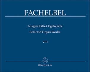 Oeuvre Pour Orgue Volume 8 PACHELBEL Partition Orgue - laflutedepan