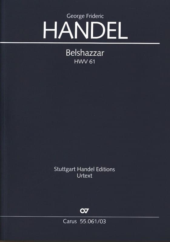 Belshazzar Hwv 61 - HAENDEL - Partition - Chœur - laflutedepan.com