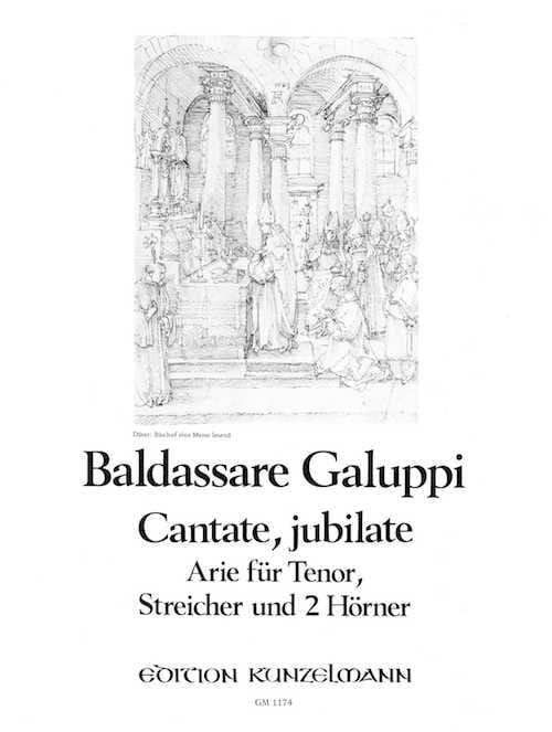 Cantate, Jubilate - Baldassare Galuppi - Partition - laflutedepan.com