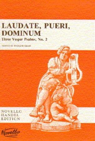 Laudate Pueri Dominum HAENDEL Partition Chœur - laflutedepan
