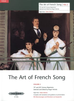 The Art of French Song Volume 2 Partition Mélodies - laflutedepan