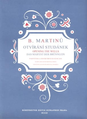 Otvirani Studanek MARTINU Partition Chœur - laflutedepan