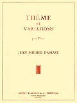 Thème et Variations Jean-Michel Damase Partition Piano - laflutedepan