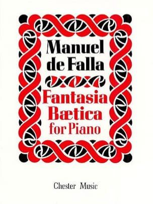 Fantasia Beatica DE FALLA Partition Piano - laflutedepan
