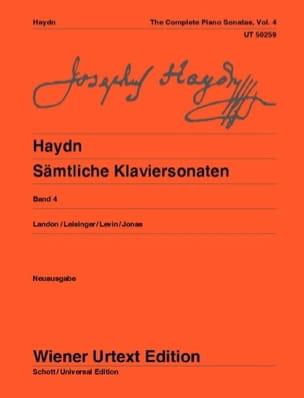Sonates Pour Piano Volume 4. HAYDN Partition Piano - laflutedepan