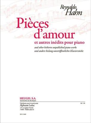 Pièces d'amour et autres inédits pour piano Reynaldo Hahn laflutedepan