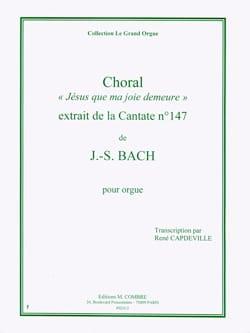 Choral de la Cantate 147. Orgue BACH Partition Orgue - laflutedepan