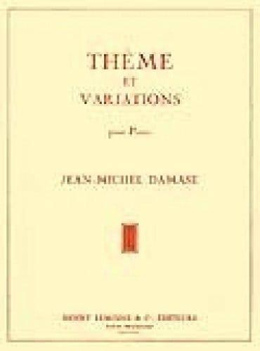 Thème et Variations - Jean-Michel Damase - laflutedepan.com