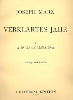 Auf Der Campagna Joseph Marx Partition Mélodies - laflutedepan