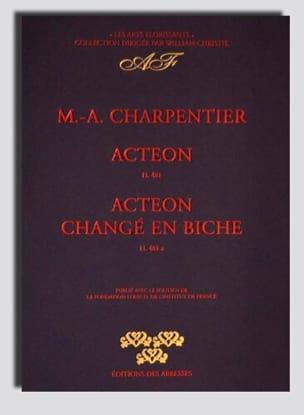 Actéon, et Actéon Changé En Biche CHARPENTIER Partition laflutedepan