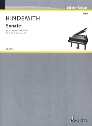 Sonate. 2 Pianos HINDEMITH Partition Piano - laflutedepan