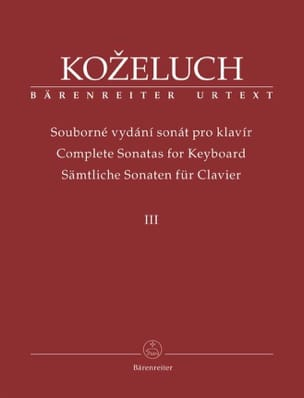 Sonates Pour Clavier. Volume 3 Leopold Antonin Kozeluch laflutedepan