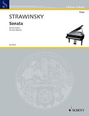 Sonate 1943-1944. 2 Pianos STRAVINSKY Partition Piano - laflutedepan
