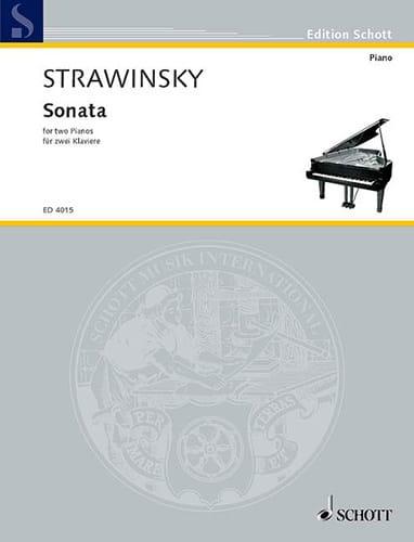Sonate 1943-1944. 2 Pianos - STRAVINSKY - Partition - laflutedepan.com