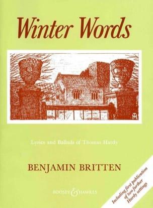 Winter Words Opus 52 BRITTEN Partition Mélodies - laflutedepan