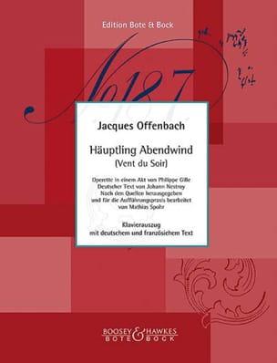 Haüptling Abendwind OFFENBACH Partition Opéras - laflutedepan