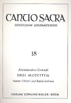 3 Motetten - Alessandro Grandi - Partition - laflutedepan.com
