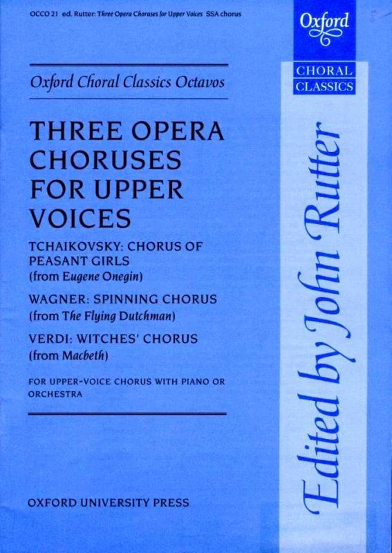3 Opera Choruses - Partition - Chœur - laflutedepan.com