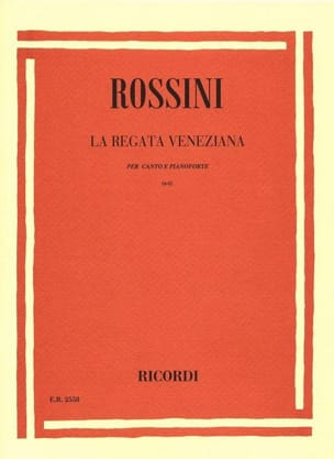 La Regata Veneziana ROSSINI Partition Mélodies - laflutedepan