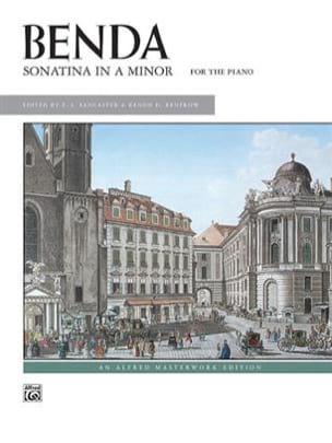 Sonatine en La mineur Georg Benda Partition Piano - laflutedepan