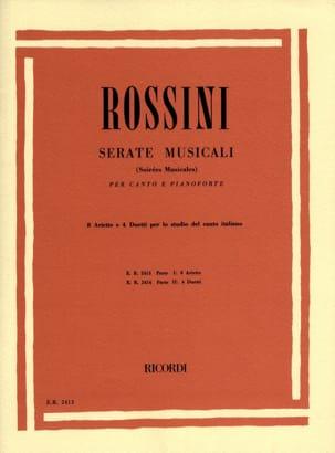 Serate Musicali Volume 1 ROSSINI Partition Mélodies - laflutedepan