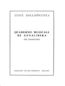 Quaderno Musicale Di Annalibera Luigi Dallapiccola laflutedepan