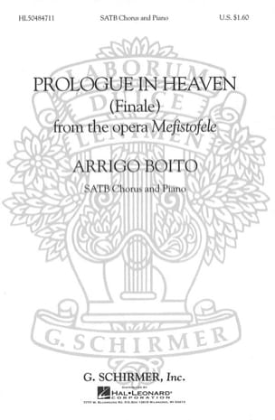 Prologue In Heaven. Mefistofele - Boito - Partition - laflutedepan.com