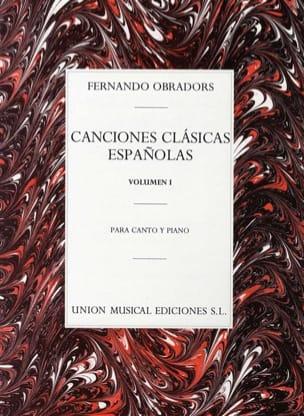 Canciones Clasicas Espanolas Volume 1 Fernando Obradors laflutedepan