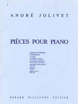 Pièces Pour Piano André Jolivet Partition Piano - laflutedepan
