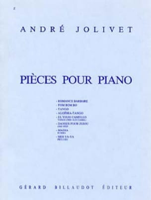 Pièces Pour Piano - André Jolivet - Partition - laflutedepan.com
