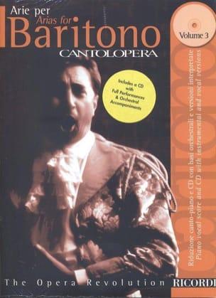 Arie Per Baritono Volume 3 Partition Opéras - laflutedepan