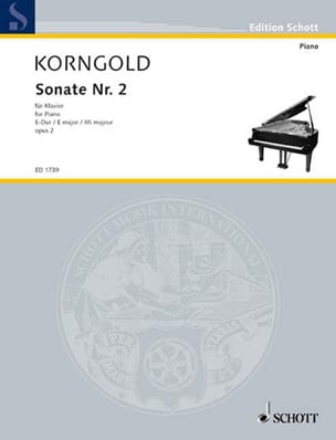 Sonate E-Dur Op. 2-2 KORNGOLD Partition Piano - laflutedepan