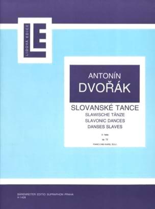 Danses Slaves Opus 72 DVORAK Partition Piano - laflutedepan
