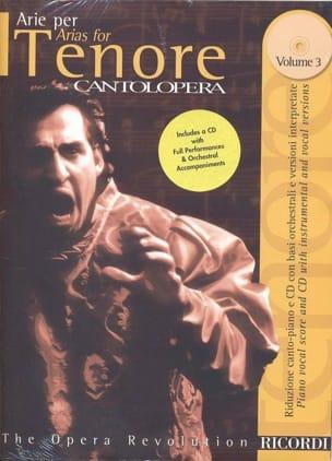 Arie Per Tenore Volume 3 Partition Opéras - laflutedepan